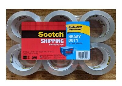 Scotch Heavy Duty Shipping Packaging Tape 1.88 In X 60.15 Yd - 6 Pack