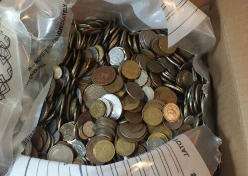 50 Pound Box Mixed Bulk World Foreign Coins LB lbs pounds Lot