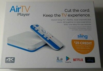 Airtv Player 4K Ultra Hd Streaming Media Player  And  25 Sling Tv Credit  New