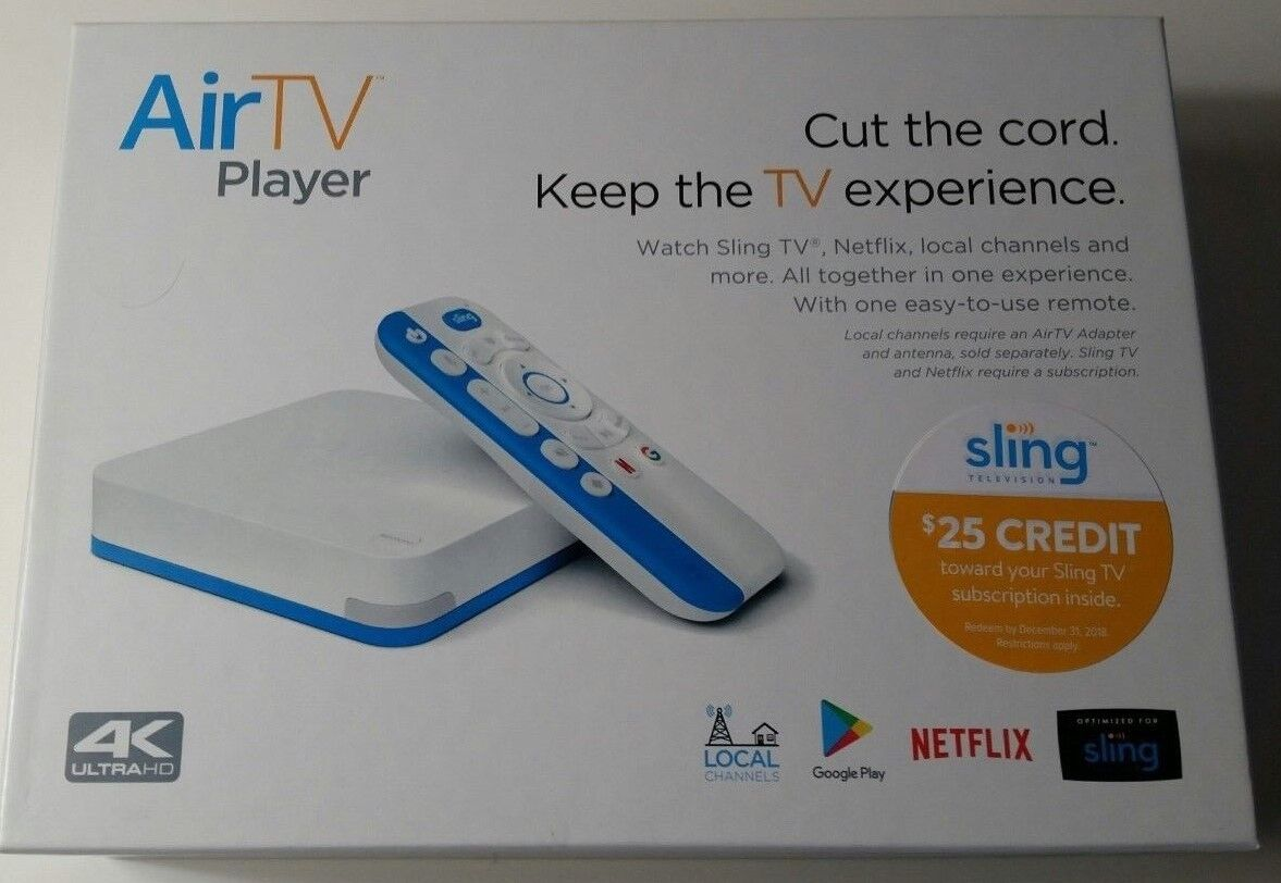 AirTV Player 4K ULTRA HD Streaming Media Player, $25 Sling TV Credit FLASH SALE!