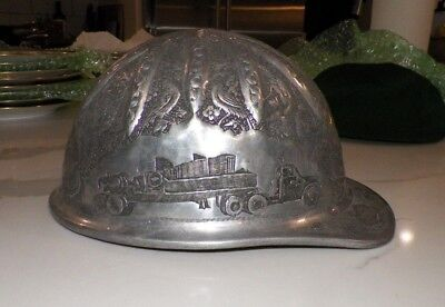 VINTAGE McDONALD CAP STANDARD MINE SAFETY APPLIANCES ENGRAVED ALUMINUM HARD  HAT 2fb9ad8221b4