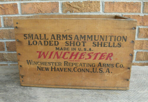 Vintage Winchester Small Arms Ammunition Staynless Ranger 12ga. Wooden Crate