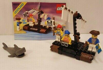 Vintage 1989 Lego Pirates I #6257-1 Castaway's Raft- 100% Complete w/Instruction