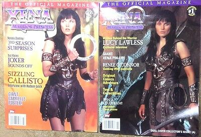 1998 XENA Warrior Princess Official Magazine #1 &2- First Issues-UNREAD-FREE S&H