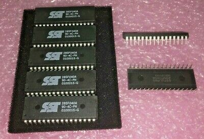 7 Piece Lot Sst28sf040a-90-4c-ph Sst Eeprom 512k X 8 90ns