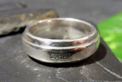 Großer 925 Silber Ring Esprit Mann Frau Unisex Daumen Designer Schlichtes Design