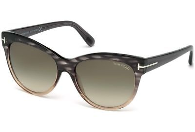 846f9d2ab TOM FORD LILY WOMENS SUNGLASSES GREY MELANGE PEACH GREY GREEN GRADIENT 0430  20P