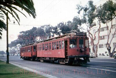 Pacific Electric PE Interurban Coach #969 DUPLICATE Slide Santa Monica