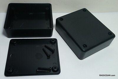 2 Pcs Usa Black Plastic Electronic Project Box Enclosure Case 3 X 2.5 X 1 In