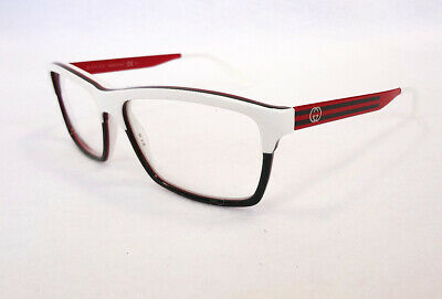 GUCCI Frame Glasses GG3517 WXF Wht/Grn/Red 53-14-140 MADE IN ITALY - (Gucci Red Glasses)
