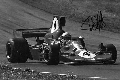 Teddy Pilette SIGNED  Team VDS Lola T430 ,   U.S. F5000  Riverside 1976