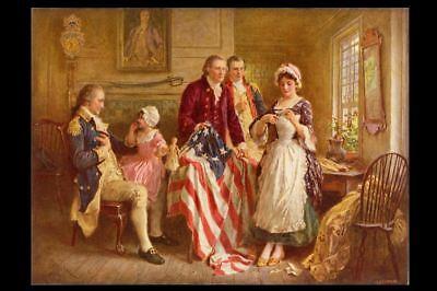 1777 Betsy Ross Flag PHOTO Art Print, Stars & Stripes,13 Star American Flag