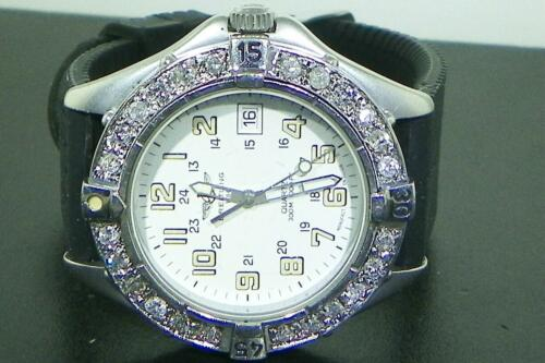 $1379.00 - BREITLING MEN'S COLT QUARTZ A57035 DIAMOND WATCH