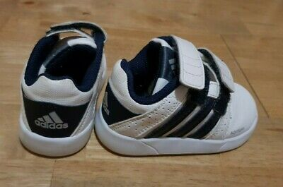 Boys Infant Adidas Trainers Size 4K White
