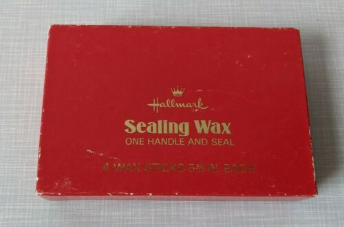 Vintage Hallmark Sealing Wax - One Handle and 3 Seals - Used but complete