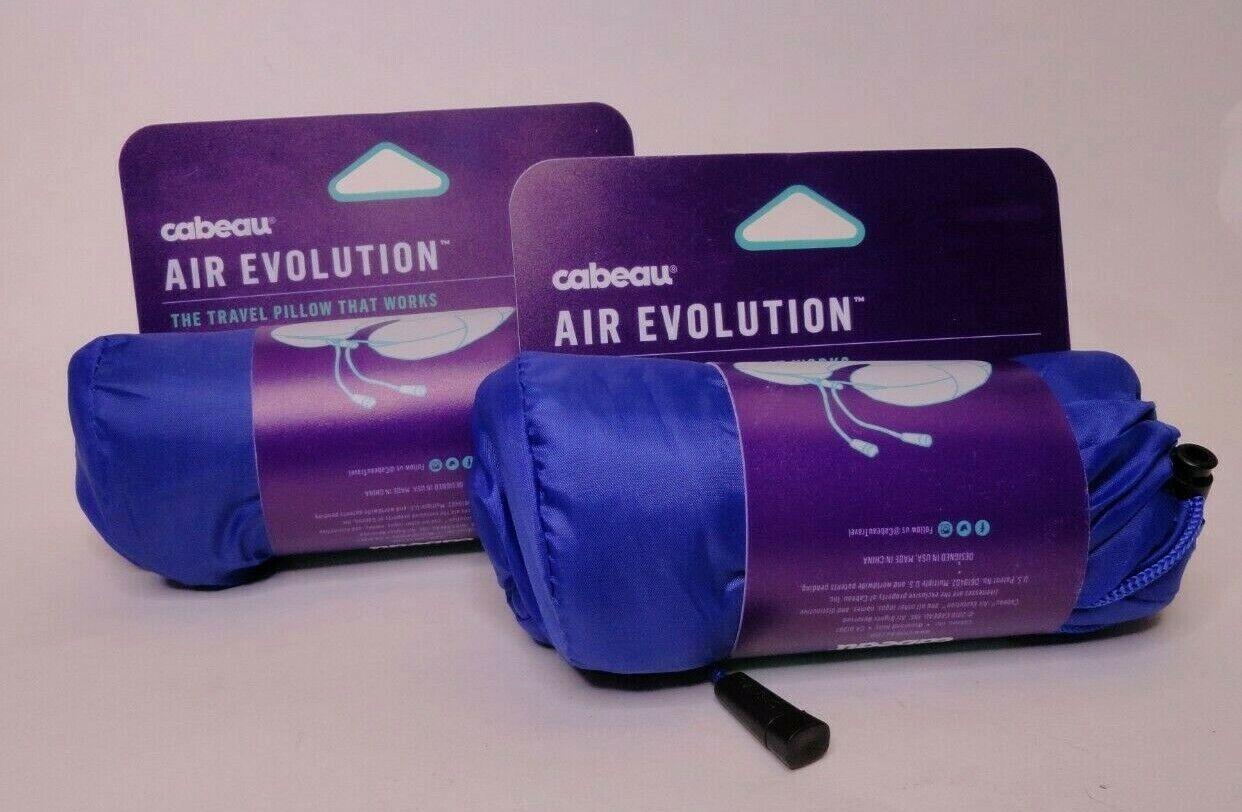 2X Cabeau Premium Blue Inflatable Air Evolution Travel Neck Pillow Cover - $17.99