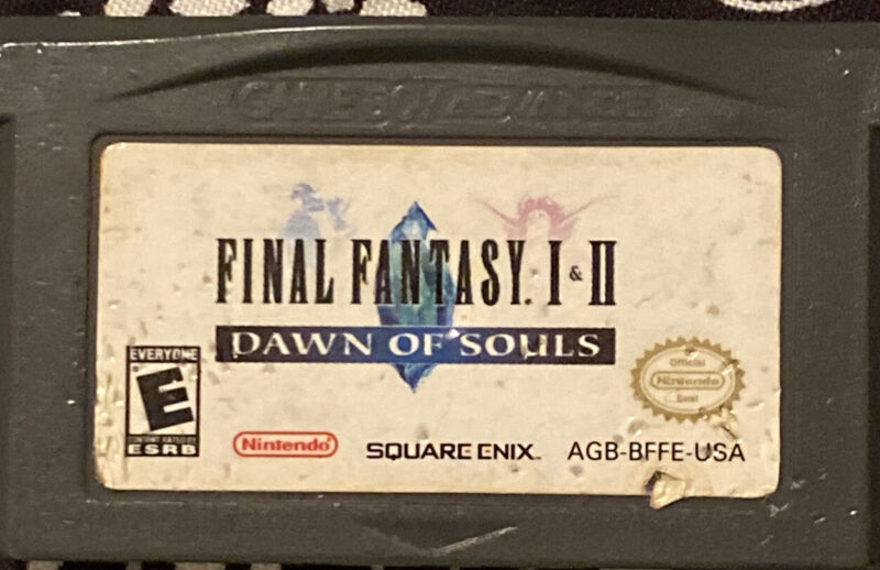 Final Fantasy I & II: Dawn of Souls (2004, Square Enix) GBA GAME ONLY & TESTED
