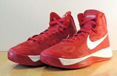 los angeles 2a567 2a32d Nike Hyperfuse 9.5 Basketball Shoes Sneakers TB Red Unisex Womans 2012 Zoom  Air