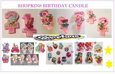 New Shopkins Birthday candles numbers party supplies & stickers](Numbered Candles)
