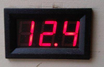 Simple 12v Red LED Volt Meter Gauge Panel Dash UK seller Free 1st Class Delivery