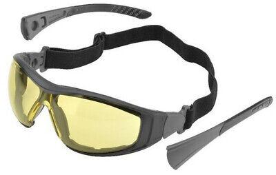 Elvex Go-specs Ii Safety Glasses Black Frame Foam Seal Amber Anti-fog Lens