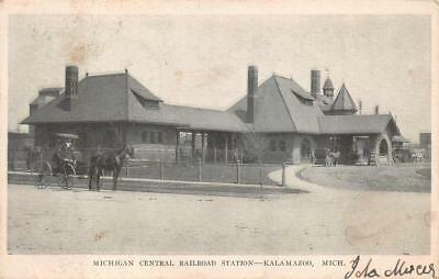 MICHIGAN CENTRAL RAILROAD STATION KALAMAZOO TRAIN DEPOT POSTCARD 1906 for sale  Marietta