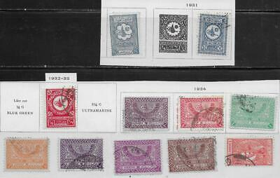 11 Saudi Arabia Stamps from Quality Old Antique Album 1927-1934