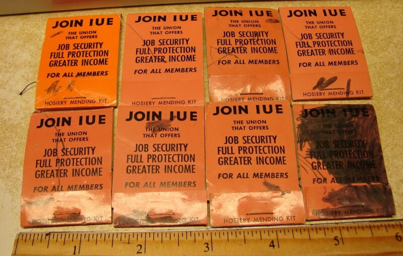 Hosiery Mending Kits Vintage Advertising 'Join IUE The Union That Offers' Lot/8