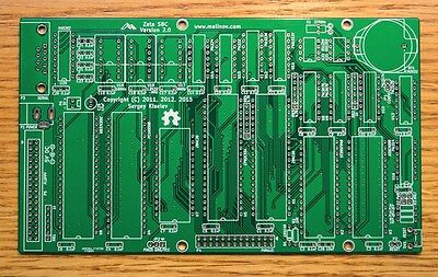 Zeta SBC Version 2.0  z80 computer cpm PC board PCB