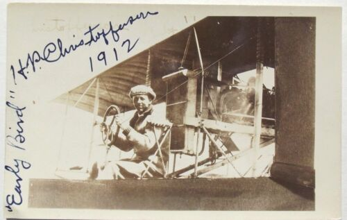 Harry P. Christofferson Early Bird Aviation Pioneer Autograph Signed Photograph