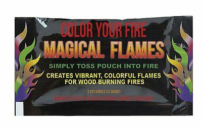 3pc Big Fire Colorful Flames Rainbow Bonfire Camping Additive, 60 Min. Color 25g - Fire & Flames