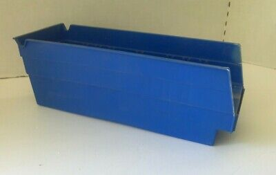 "LOT OF10 AKRO-MILLS BOLT BINS Various Colors  4-1/8"" X 4"" X"