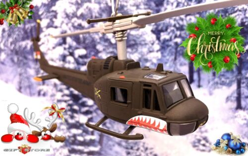 CHRISTMAS ORNAMENT HELICOPTER BELL HUEY UH-1 IROQUOIS ARMY AIR CAVALRY VIETNAM