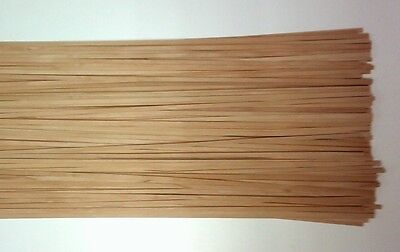 50 Holzleisten Satin-Nuss   800 x 5 x 0,6 mm