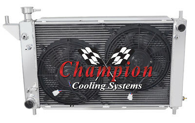 4 Row Best Cooling Champion Radiator W/ 2 12