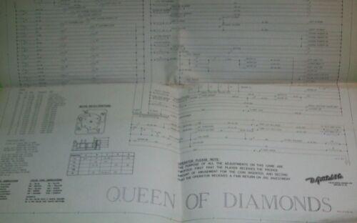 Queen Of Diamonds Pinball Game Wiring Diagram Schematic Original Gottlieb 1959