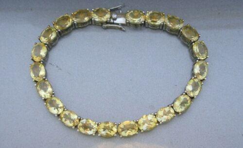 """JTV Sterling Silver 925 Citrine Gemstone Tennis Bracelet 8"""" Length BBJ"""