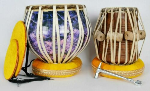 Professional Musical Instrument Wooden 3D Print Tabla High Quality Drums Set