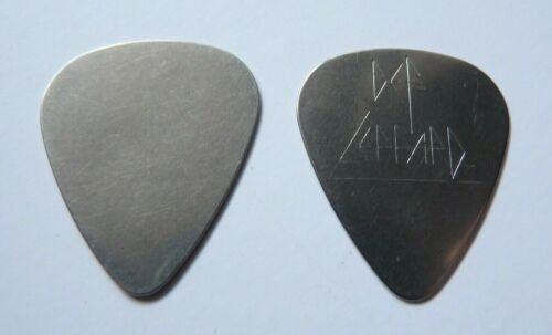 Def Leppard Vintage STEVE CLARK ERA ENGRAVED METAL Tour Issued Guitar Pick