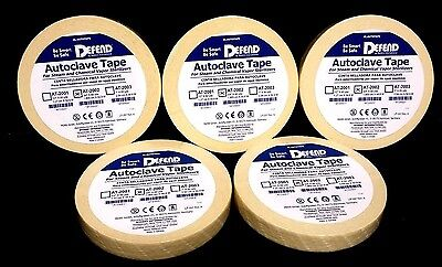 Autoclave Tapes 34 60yd Per Roll 300yd Total At-2002 Dental 5 Pack