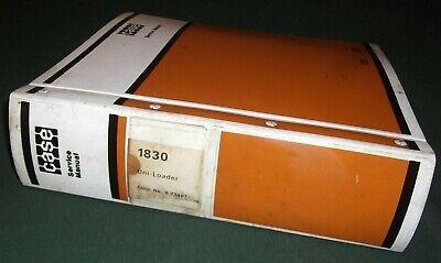 Case 1830 Uni-loader Skid Steer Service Shop Repair Manual Book Oem Original
