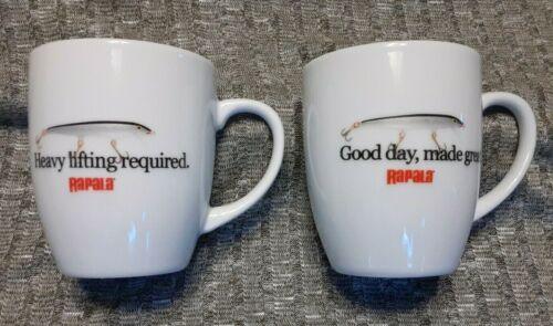 Rapala Fishing Lure Advertising Coffee Mugs Pair LOT OF TWO (2) ++MINT!++