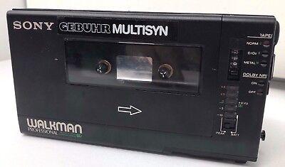 Sony Walkman Professional WM-D6 mit GEBUHR MULTISYN Kassetten Recorder Leder
