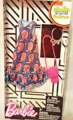 Barbie Spongebob Squarepants Fashion Pack Blue Pink Dress & Accessories New](Spongebob Accessories)