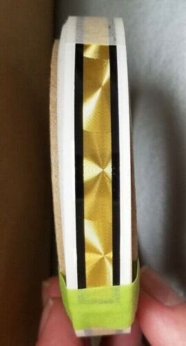 "1/4"" Gold Coburn Striping w/ Black Border, 10"