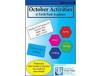 October Half Term Holiday Activities