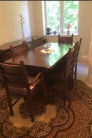 Tudor style dining room table and chairs (offers accepted)
