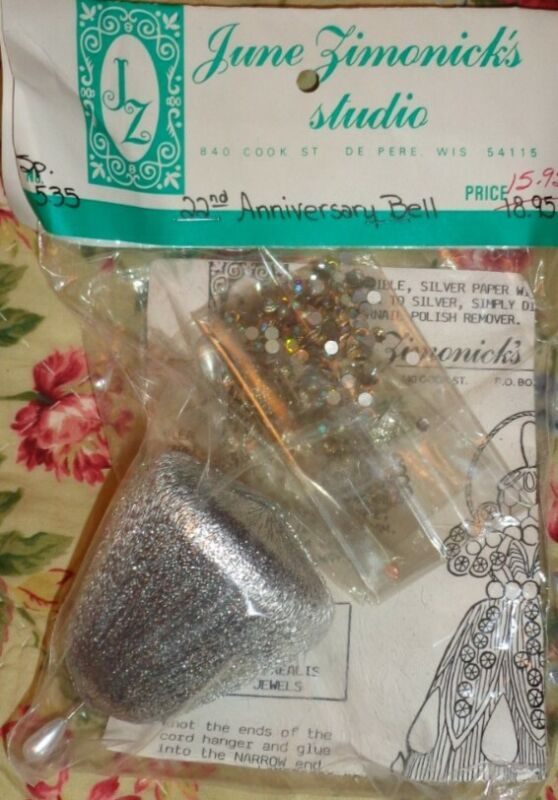 June Zimonick Ornament Kit #535 22nd Anniversary Bell NOS Swarovski crystals