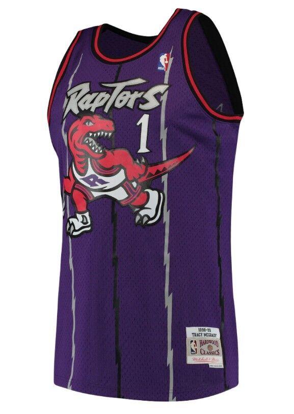 b8640cf87 Tracy McGrady  1 Toronto Raptors Mitchell Ness Mesh NBA Throwback Jersey  Purple