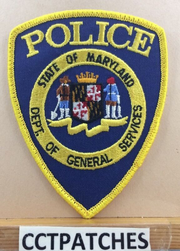 MARYLAND DEPARTMENT OF GENERAL SERVICES POLICE SHOULDER PATCH MD